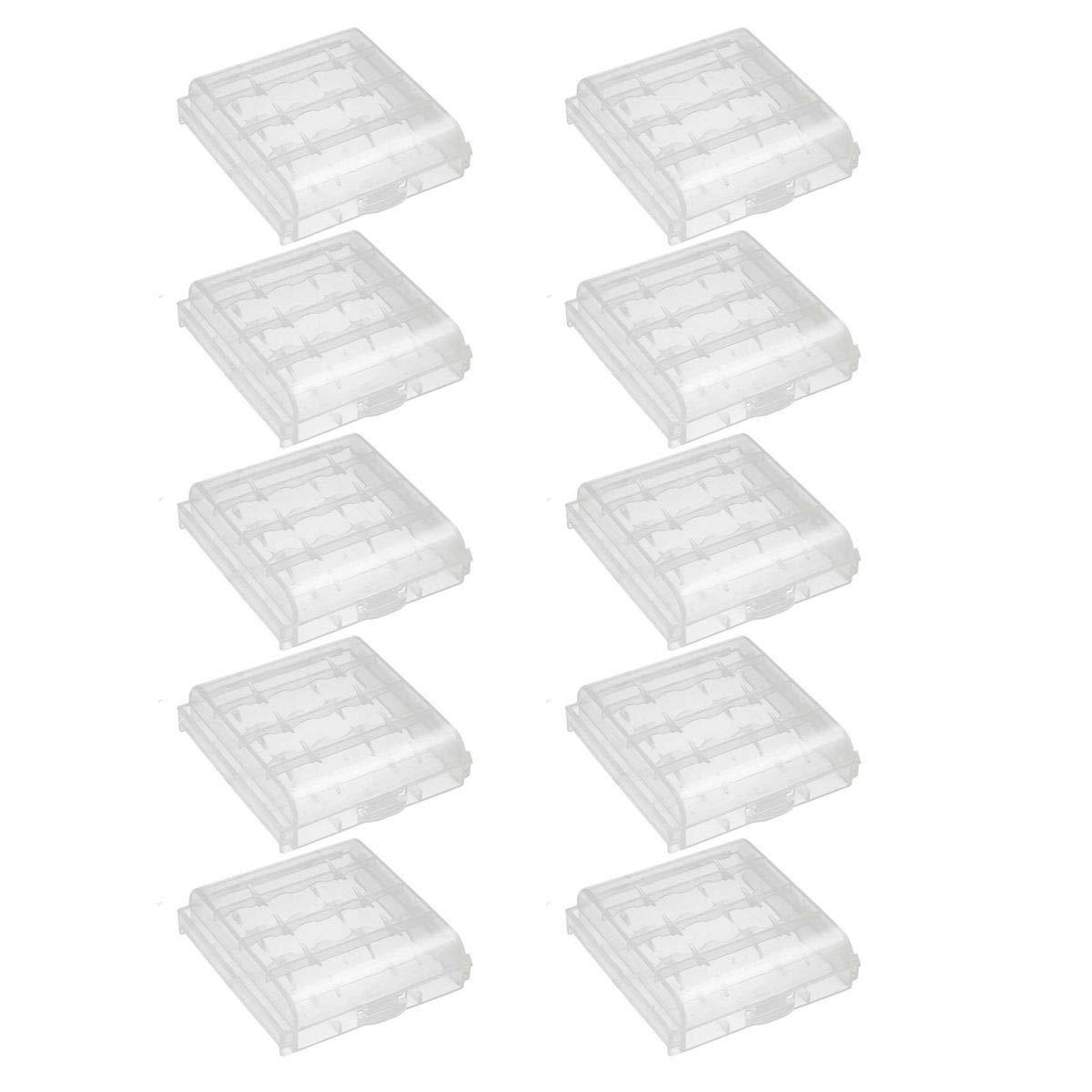 10er Pack Aufbewahrungsbox fü r 1x 21700 Akkus/Batterien - 10er Set Akku-King