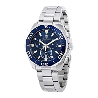 2c536888272 Amazon.com  Tag Heuer Watches Tag Heuer Men s Aquaracer Watch (Blue ...