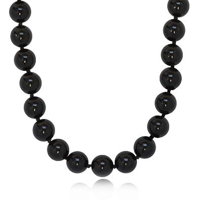 79f3c770308 Amazon.com  ISAAC WESTMAN 8mm Polished Black Onyx Necklace