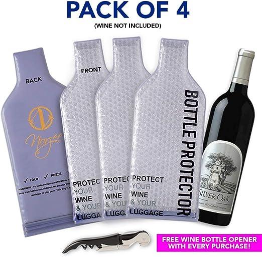 WineSkin Wine Bottle Protection Transport Bag Set of 5
