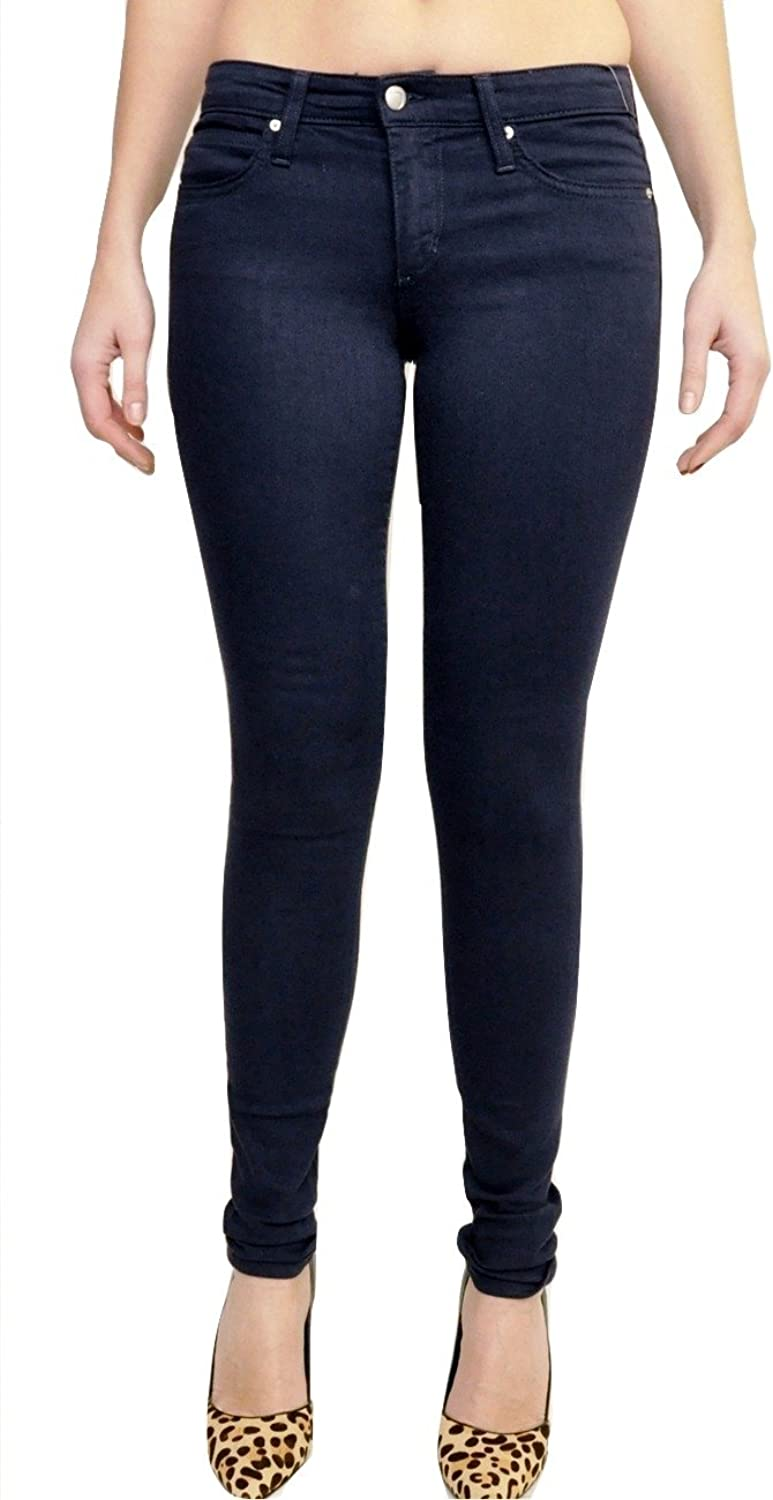 Joe's Jeans Flawless Mid Rise Skinny Stretch Denim Pants Navy 26