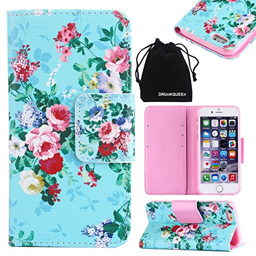 iPhone 6s Plus Case, iPhone 6 Plus Case, DRUnKQUEEn for Women Men Kids Wallet Purse Type Leather Credit Cards Cases with Cellphone Holder Flip Cover for iPhone 6sPlus iPhone 6Plus