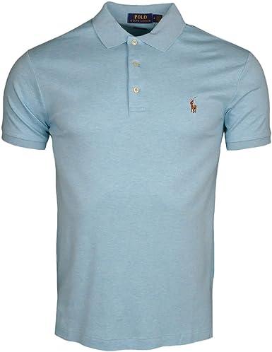 Ralph Lauren Polo Azul Turquesa con Logotipo Jersey Slim Fit para ...