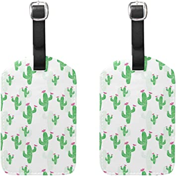 2 Pack Luggage Tags Cactus Cacti Travel Tags For Travel Tags Accessories