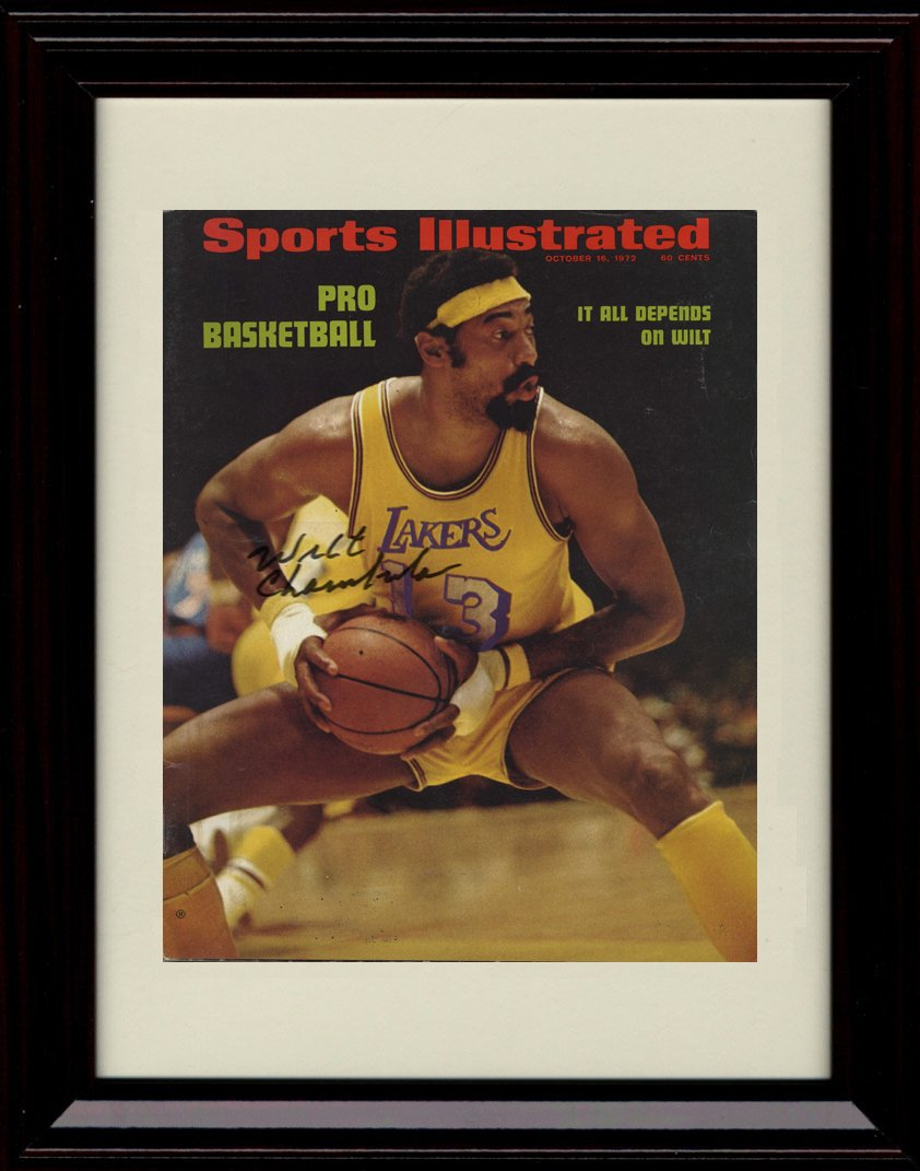 65%OFF【送料無料】 Framed Wilt Chamberlain Sports Illustrated – Autographレプリカ印刷 – Sports Lakers World。 Champs。 B01NBBVZHG, グルービーネイル:e5a00ae3 --- arianechie.dominiotemporario.com
