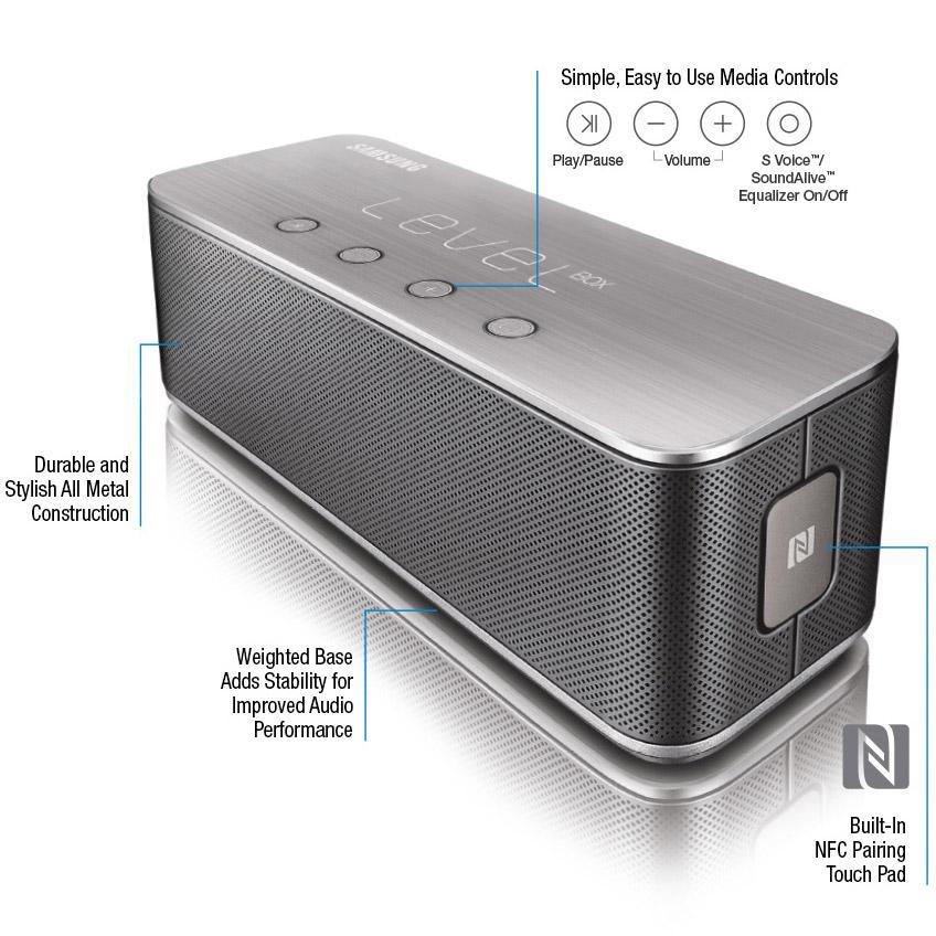 samsung level box bluetooth wireless speaker black cell phones accessories. Black Bedroom Furniture Sets. Home Design Ideas