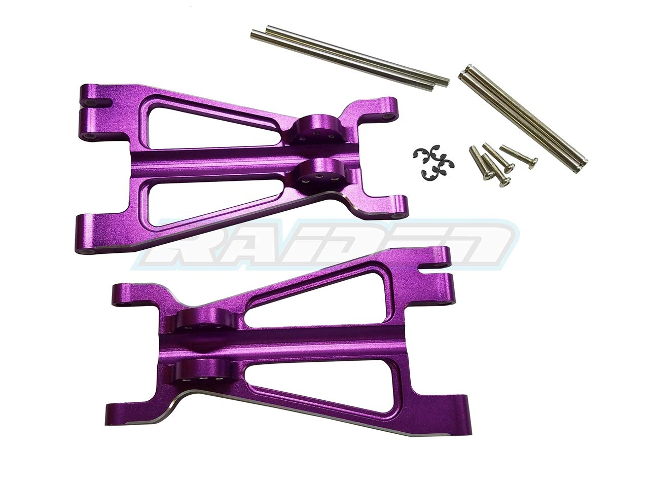 Raidenracing Aluminum Alloy Front / Rear Niedriger Arm for HPI 1/8 Savage Flux 4.6 XL X 2pcs - lila