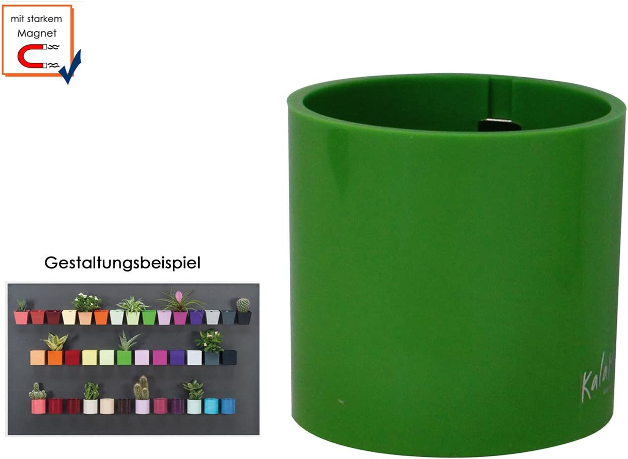 Wanddeko /Ø 6 cm KalaMitica 52005-104-001 Farbe dunkelgrau Magnetischer Topf f/ür Wandaufbewahrung Form Zylinder