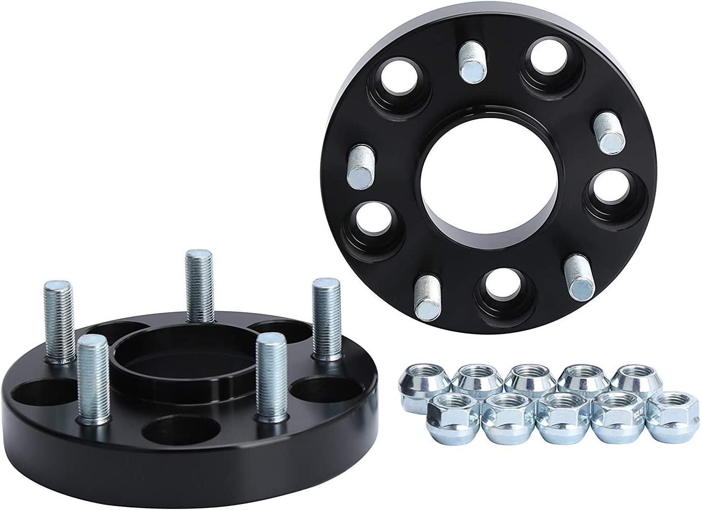 "KSP 5X114.3mm Wheel Spacers, Forged 2Pcs 15mm Thread Pitch 12x1.25 Hub Bore 66.1mm 5 Lug Hub Centric 3/5"" Wheel Adapters for 350Z 370Z G35 G37, 2 Years Warranty(Pack of 2)"