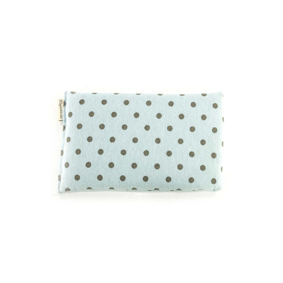fleur doranger ou romarin tissu bleu /à pois 28 x 26 x 2 cm Bouillotte garnie de graines ar/ôme lavande