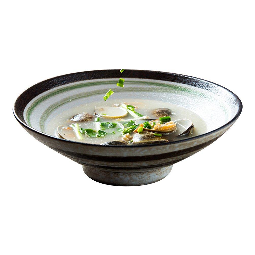 LXY Große Schüssel Schüssel Rindfleisch Ramen Schüssel Japanische Salatschüssel Kreative Suppe Schüssel Persönlichkeit Haushalt Keramikschale Schüssel