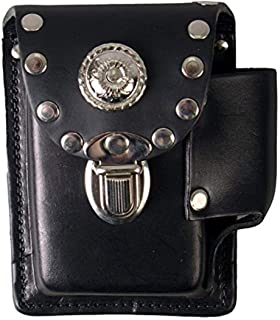 "product image for Hot Leathers CSB1006 Black 5"" x 4"" Die-Molded Cigarette Case"