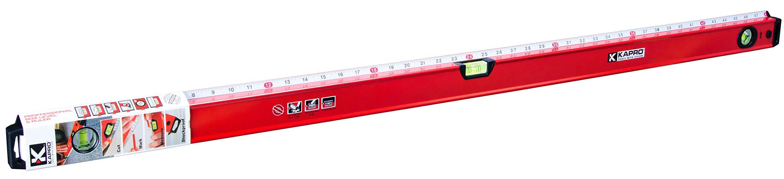 Kapro 770-42-48 Exodus Professional Box Level with 45° Vial & Ruler, 48'' Length by Kapro