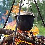 Camp-Fire-Cooking-Pot-wTripod-42-qt-Aluminum