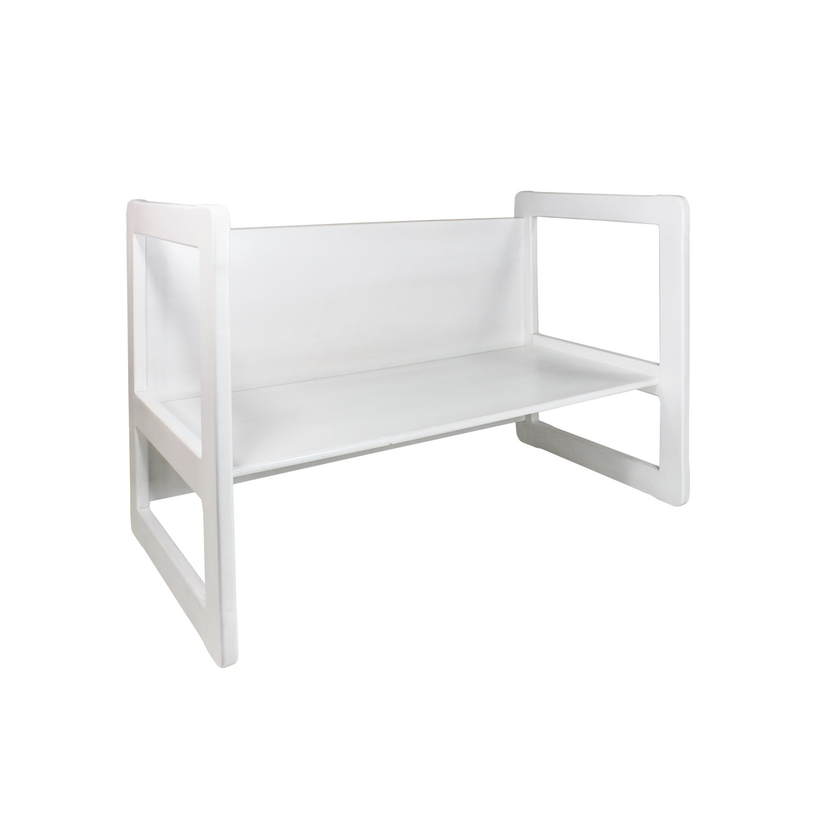 3 in 1 Childrens Multifunctional Furniture Set of 2, One Small Bench or Table and One Large Bench or Table Beech Wood, White Stained by Obique Ltd (Image #7)