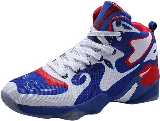 Poamen - Zapatillas de Correr Unisex Estilo Chino de caña Baja para Baloncesto, Color Negro, Talla 39 2/3 EU: Amazon.es: Zapatos y complementos