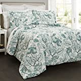 Lush Decor Lush Décor Cynthia Jacobean 5 Piece Comorter Set, King, Dusty Blue
