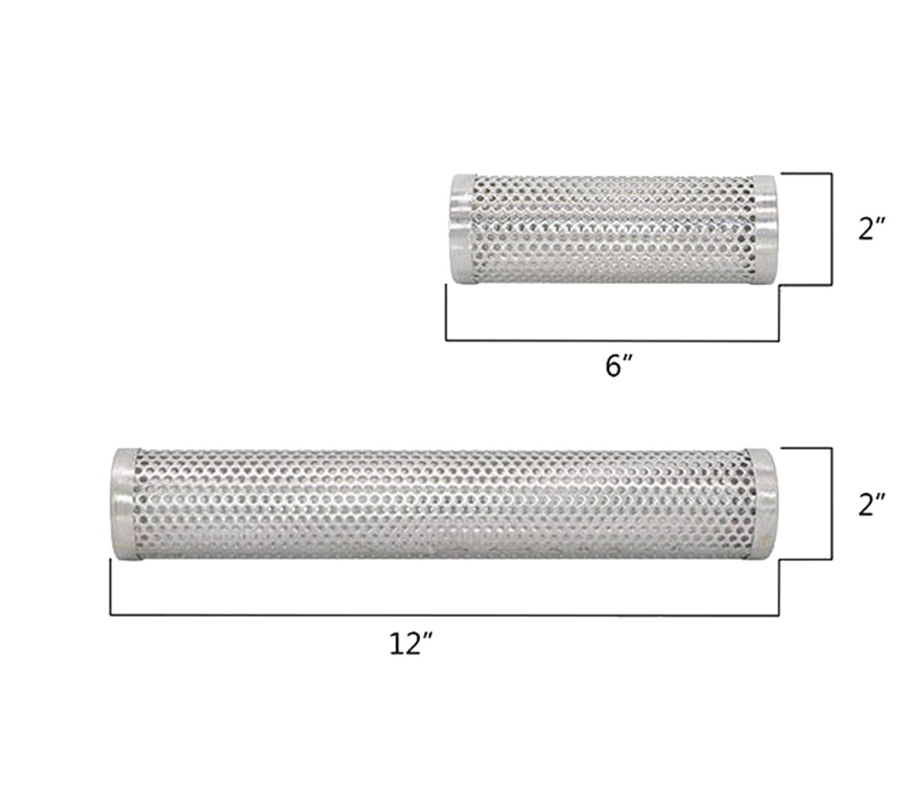 Siomentdi BBQ Stainless Steel Perforated Mesh Smoker Tube, Round Smoke Generator Outdoors Barbecue Tools Kitchenware