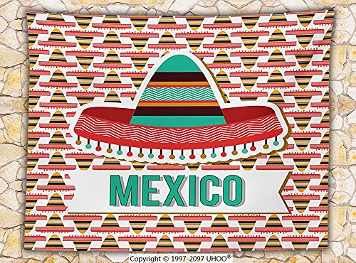 British Cultural Costumes (Mexican Decorations Fleece Throw Blanket Mexico Design Cultural Ethnic Hat Costume Tradition Patriotism Emblem Throw)