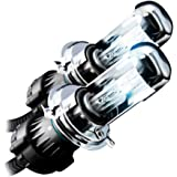 JDM HID Xenon Replacement Light Bulbs H4 9003 Bi-Xenon Low/Hi 6000K Super White (Pack of 2)