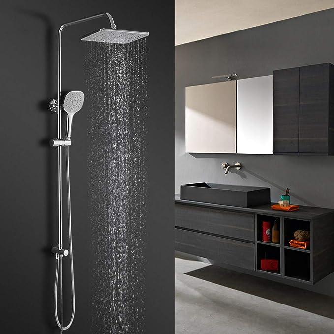 BONADE Sistema de ducha ducha de lluvia sin grifo ducha para ...