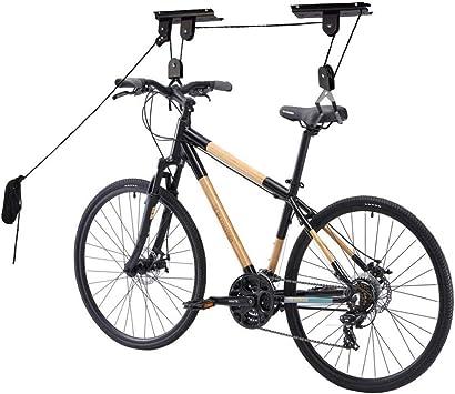 Bicicleta De Montaña Ascensor Bicicleta Techo Suspensión Colgador Rotación Polea Ajustable Cuerda De Almacenamiento De Bicicletas Garaje Almacenamiento Almacenamiento De La Máquina Correa De Suspensión: Amazon.es: Deportes y aire libre
