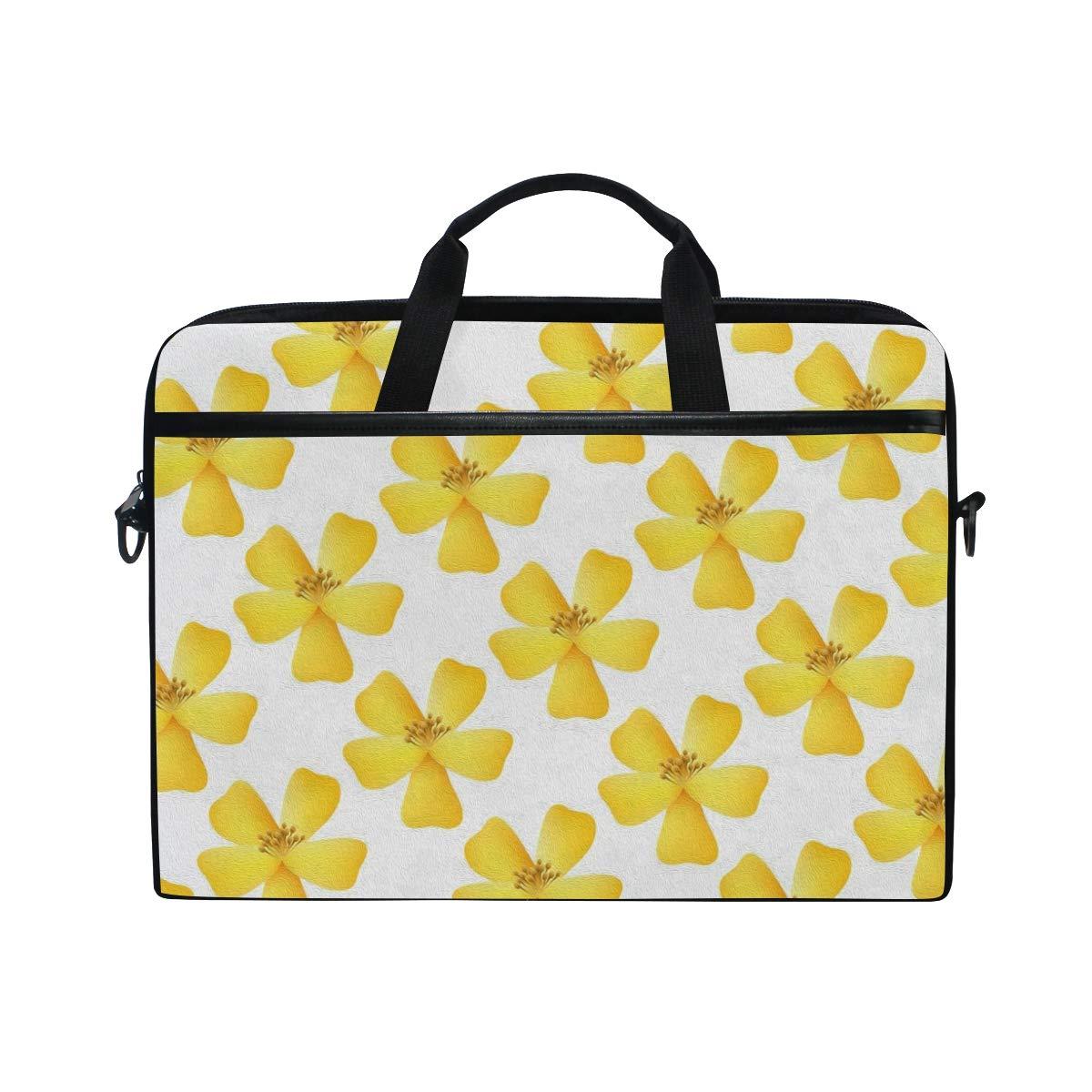 7541dc03dee0 Amazon.com  Laptop Briefcase Yellow Jasmine Flower Laptop Bag for Men Women Canvas  Shoulder Messenger Bag with Fits 15-15.4 Inch  Computers   Accessories
