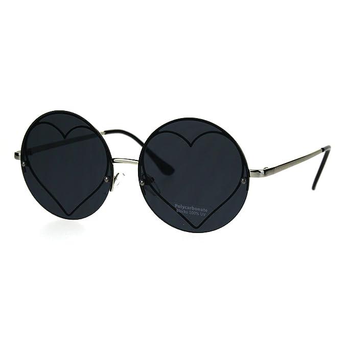 Amazon.com: Hippie forma de corazón Círculo Ronda lente ...