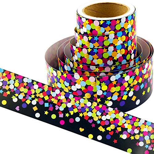 Bulletin Board Borders Confetti-Themed Border for Classroom Decoration 36ft -