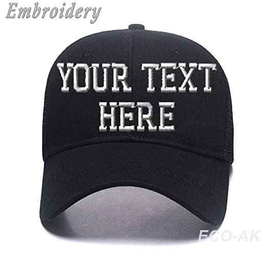 Classic Ponytail Baseball Cap Custom Personalized Visor Dad Hat Mesh Trucker  Hat Black 1d0caff1978