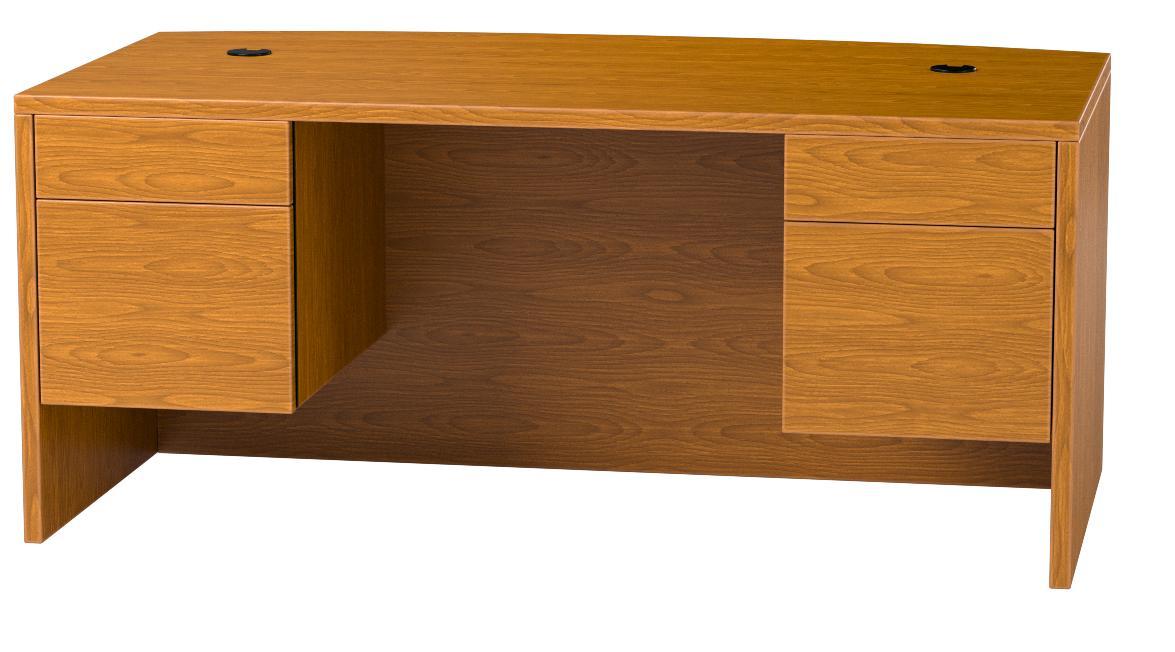 HON Bow Top Double Pedestal Desk