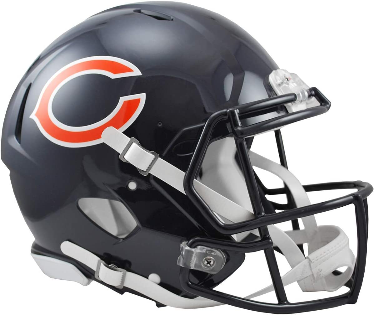 Amazon Com Riddell Nfl Chicago Bears Speed Authentic Football Helmet Sports Fan Football Helmets Sports Outdoors