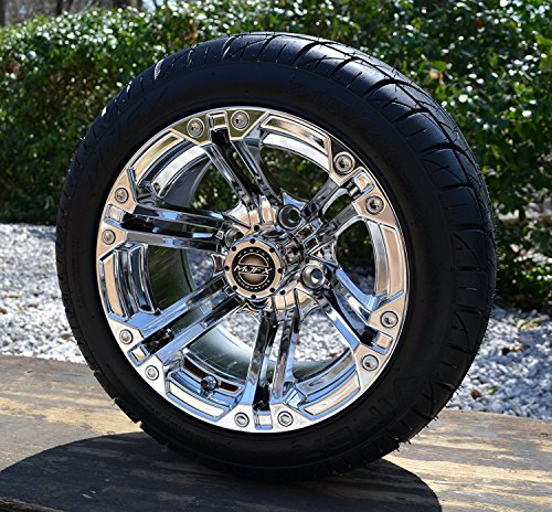 - Golf Cart Wheels and Tires NITRO 12'' Chrome, Set of 4