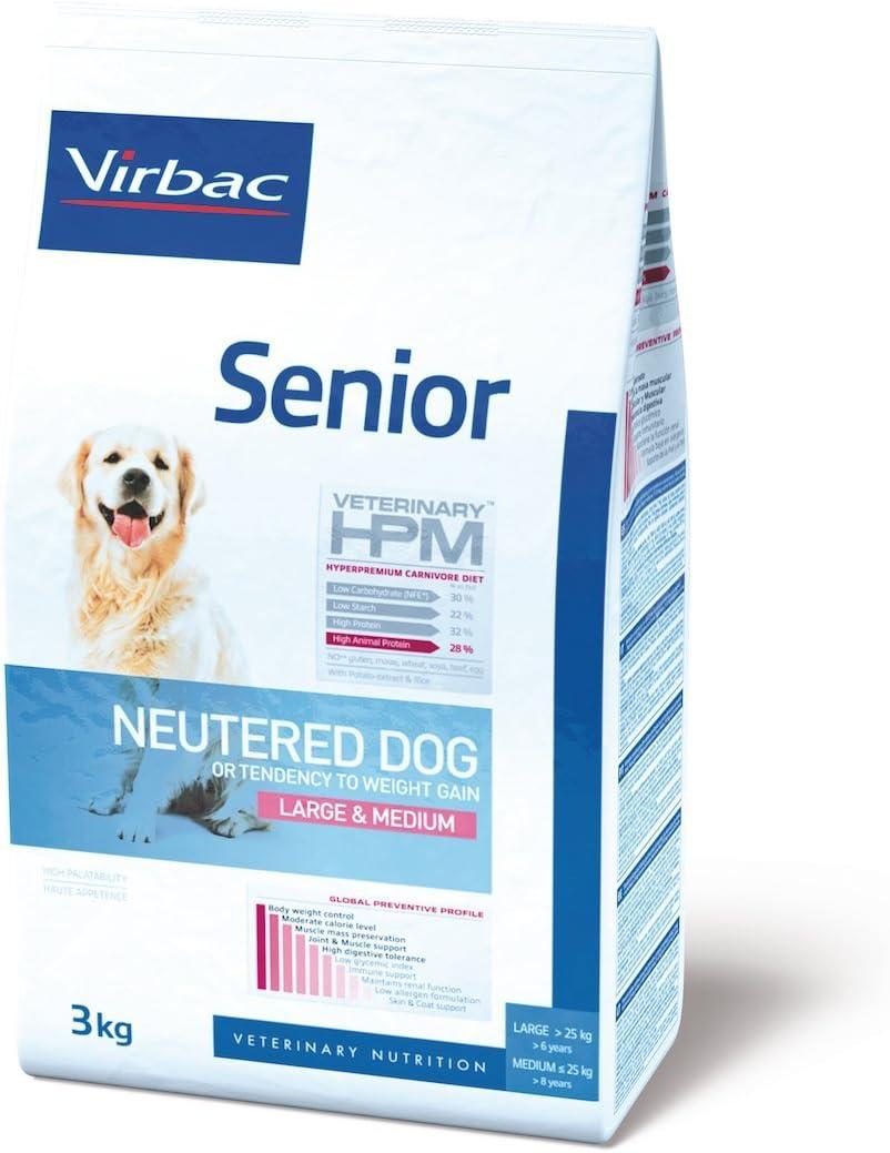 Veterinary Hpm Virbac Hpm Dog Senior Neutered Large&Med 7Kg Virbac 00463 7000 g