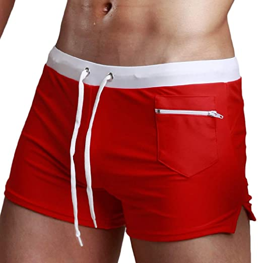c4f2881a40 Dressin Sexy Swimsuit Fashion Swimming Trunks Briefs Beach Shorts Mens  Underpant | Amazon.com