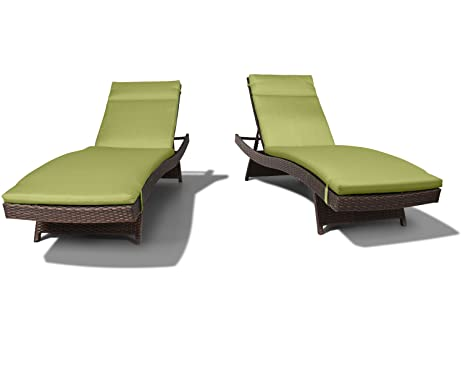 amazon com ulax furniture 2 pack adjustable outdoor patio rattan