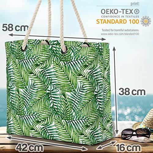 VOID Tropiska palmblad strandväska Shopper 58 x 38 x 16 cm 23 L XXL shoppingväska väska resväska Beach Bag
