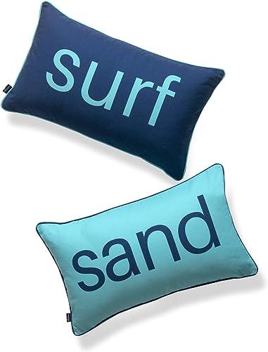 Hofdeco Beach Nautical Indoor Outdoor Lumbar Pillow Cover ONLY