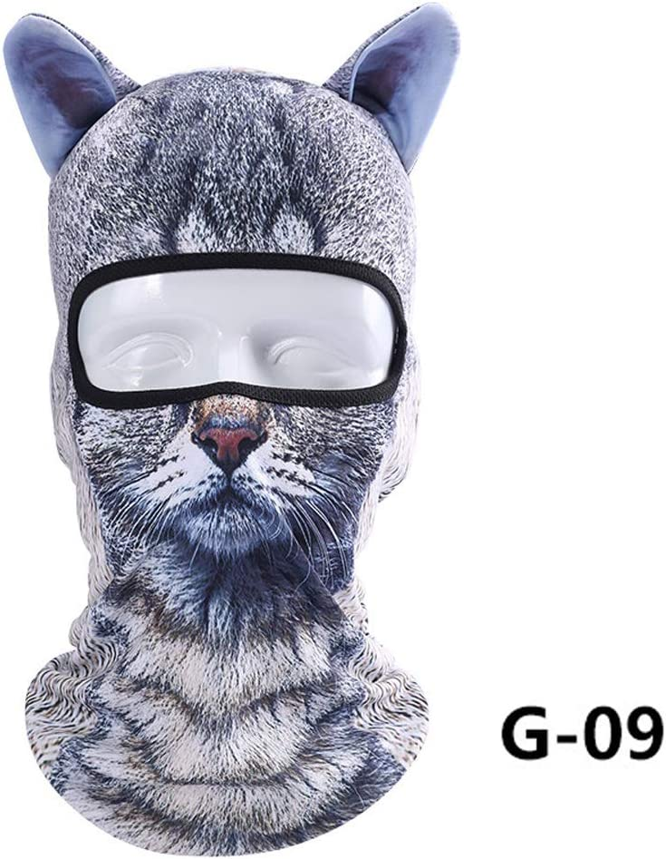 Acutty 1 pi/èce Mince 3D Animal de Cyclisme Outdoor Ski Masque de Ski Cagoule Masque de Visage Masque de Visage Chapeau Lion