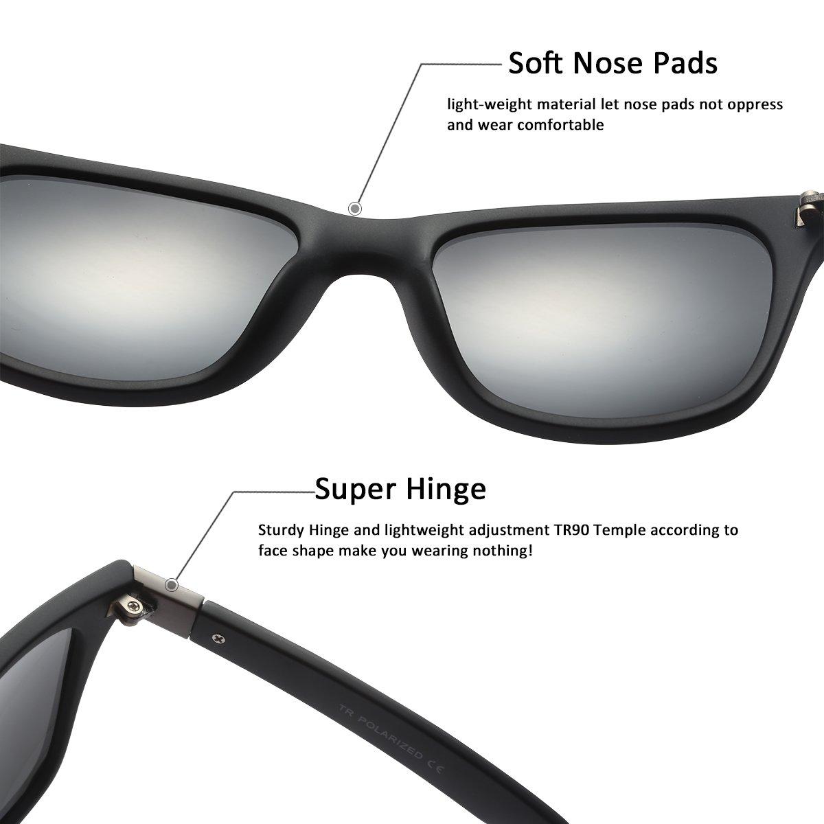 9f1e6ff59e2 Amazon.com  FEISEDY Retro Polarized Driving Sunglasses TR90 Frame Men Women  UV400 B2433  Clothing