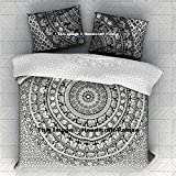 "Elephant mandala Duvet cover Indian Bohemian Doona Quilt Blanket Cover with pillowcase exclusive 3 PCS Super Soft Duvet Cover Set with 2 Pillow Shams, Mandala Pattern By ""Handicraftspalace"""