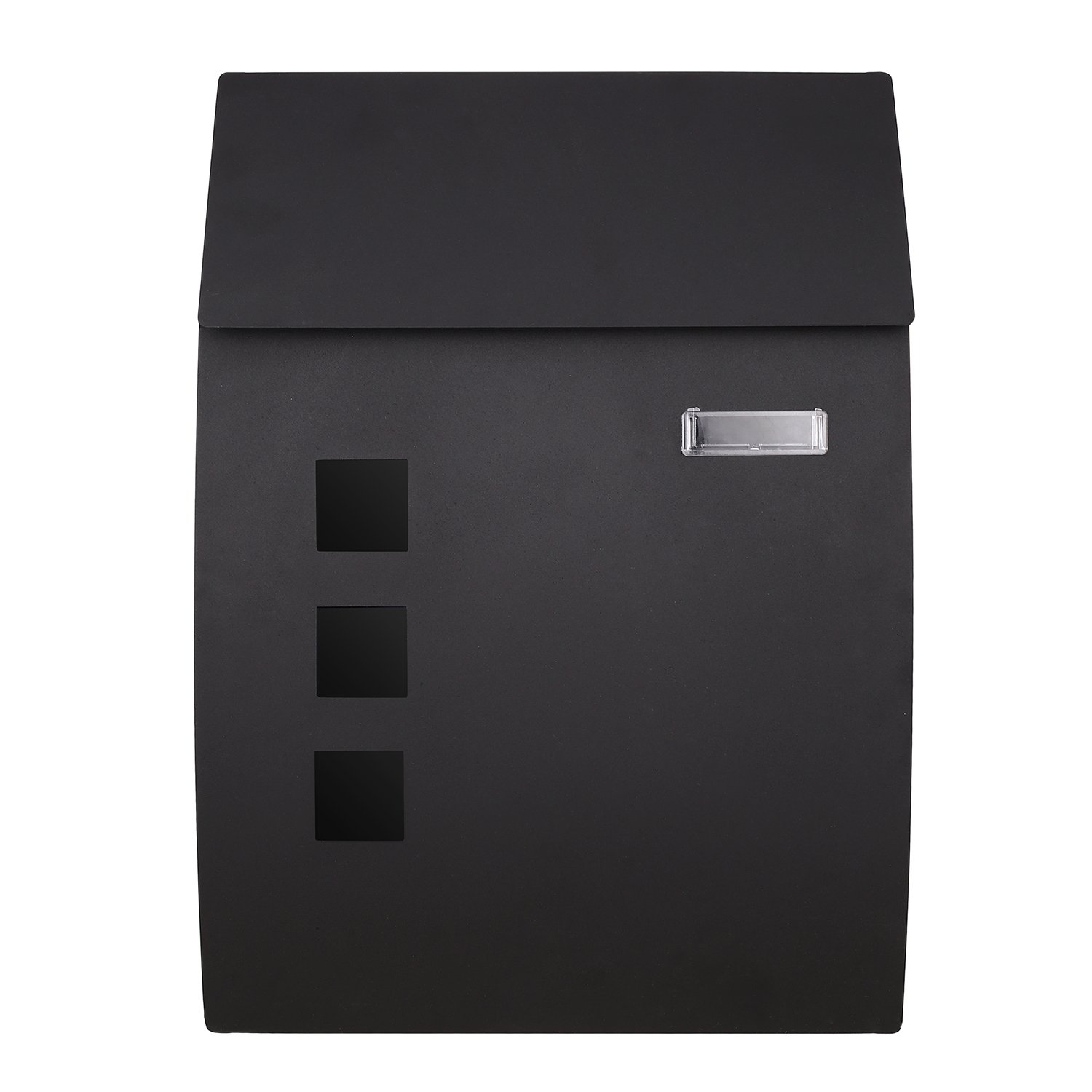 Simlive Wall Mounted Iron Letterbox/Post Box Outdoor Lockable Mailbox with 2 Keys for Outside Waterproof Safety