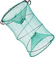 Drasry Fishing Bait Trap for Crawfish Shrimp Net Portable Accessories 11.8in x 5.9in (30cm x 40cm) 0.28 Inch M