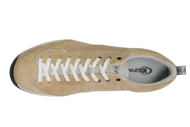 KEFAS - Zapatillas de ante para hombre, color Beige, talla 35.5