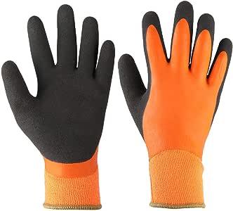 Guantes de trabajo impermeables, guantes de algodón para el invierno, montar a caballo, correr, esquiar, escalar, conducir(L): Amazon.es: Bricolaje y herramientas