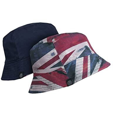 224d3d854 Pretty Green - Union Jack Bucket Hat, Red, S-M: Amazon.co.uk: Clothing