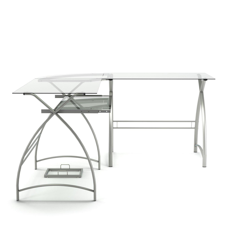Gibson Living Stillman L Shaped Desk in Silver