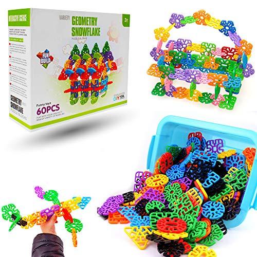 Planet of Toys 60Pcs. Stem Education Series Geometry Snowflakes Blocks