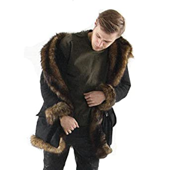 TOOPOOT Men Faux Fur Parka Outwear, Winter Mens Warm Thicker Long Hoodie Jacket Coat Jacket at Amazon Mens Clothing store: