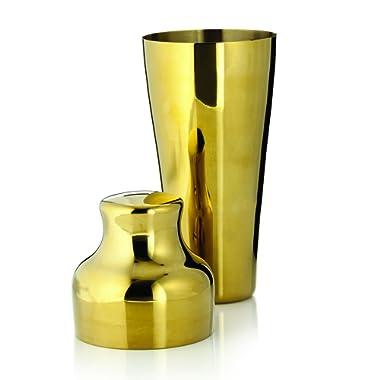 Viski 3764 Belmont Cocktail Shaker, Gold